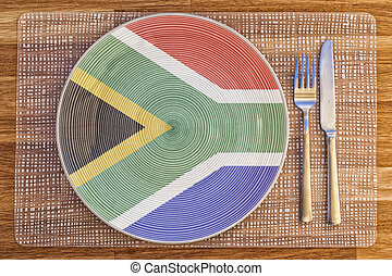 Dinner plate for South Africa - Dinner plate with the flag...