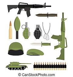 komplet, Od, ikony, dla, Bro, Od, war., wojskowy, units:,...