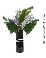 Christmas bouquet isolated on white background