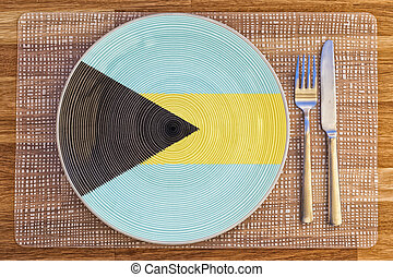 Dinner plate for the Bahamas - Dinner plate with the flag of...