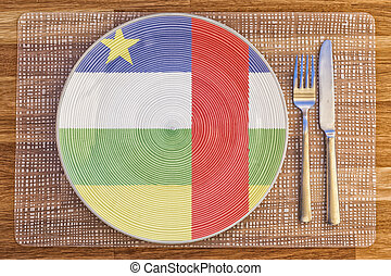 Dinner plate for the Central African Republic - Dinner plate...