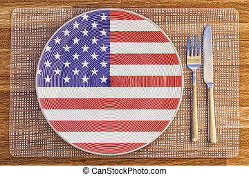 Dinner plate for the United States of America - Dinner plate...