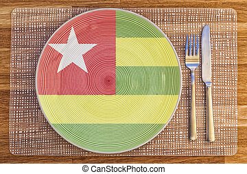 Dinner plate for Togo - Dinner plate with the flag of Togo...