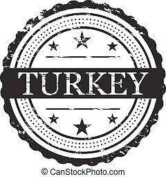 Turkey Grunge Stamp Symbol