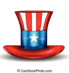 Uncle Sam Hat isolated on white USA