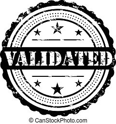 Validated, Grunge Stamp Symbol