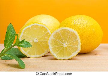 immune system strengthening - a set with lemons against...