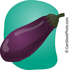 Eggplant illustration - Sketch of an eggplant. Hand-drawn...