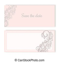 Invitation cards for wedding engagement
