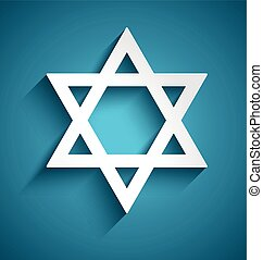 Star of David, judaism symbol Vector design
