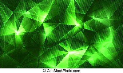 dark green triangles network trendy loop backgrund
