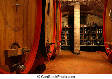 Italian wine cellar - beautiful antique wine cellar in an...