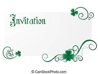 St. Patrick`s day invitation, vector illustration