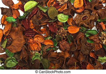 Multi-coloured dried parts of plants for aromatisation of...