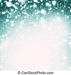 Snow Christmas Abstract Background - Festive lights,...