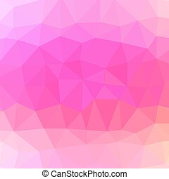 Mosaic Pink Background. Abstract Polygonal Pink Pattern