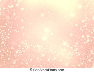 Abstract golden glittering lights and stars - Festive...