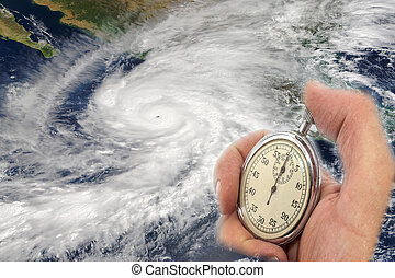 Countdown - Hurricane Patricia and Hand Holding old...