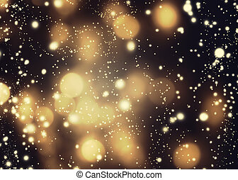 Abstract glittering lights and stars on dark background -...