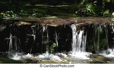 Fern Creek Small Waterfall Shadows - Small Waterfall Fern...