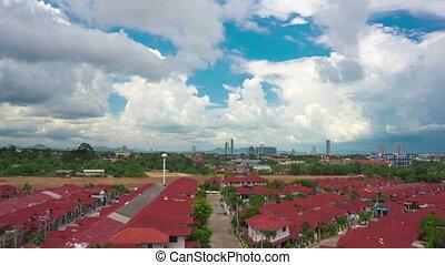 cloudy sky over city timelapse