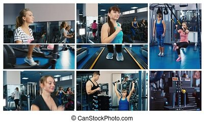fitness multiscreen wall
