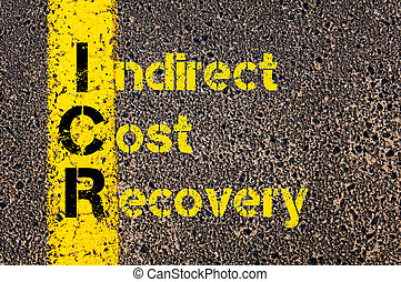 Business Acronym ICR as Indirect Cost Recovery - Concept...