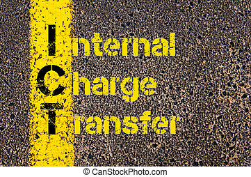Business Acronym ICT as Internal Charge Transfer - Concept...