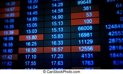 stock market quotes seamless loop animation
