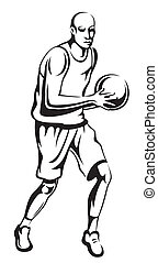 The athlete playing basketball - Young man sports...