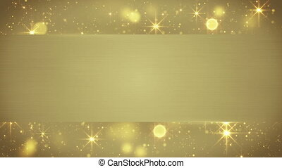 gold blank banner seamless loop background