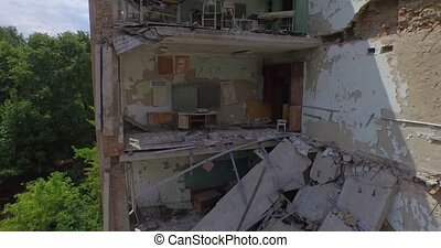 School No1 of Pripyat. Chernobyl - The ruins of the School...