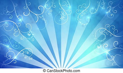 blue fancy background seamless loop.