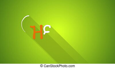 hello text greeting animation flat style last 5s loop -...
