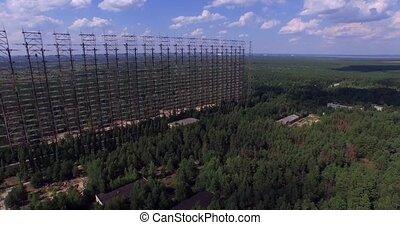 Duga, Chernobyl. Aerial - Duga - Soviet over-the-horizon...