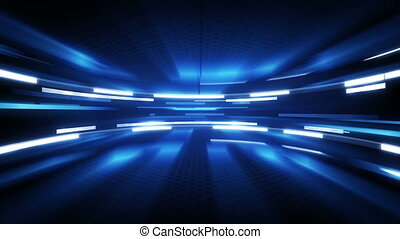 shining blue glow loopable technology background