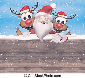 Christmas Santa Claus Reindeer