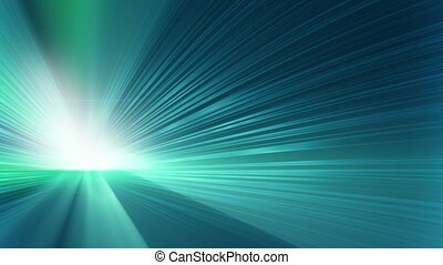 blue shining rays loopable background
