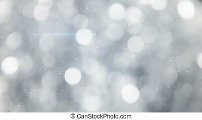 grey circle bokeh lights seamless loop background - grey...
