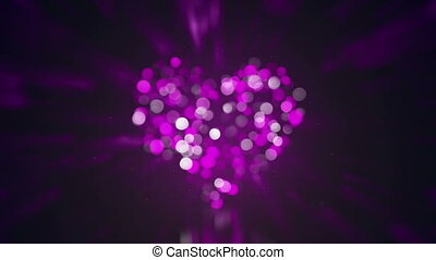 defocused heart shape and lights loopable animation -...