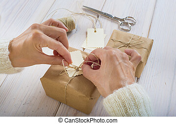 Preparing gifts for Christmas