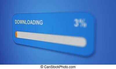 download progress bar close-up