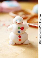 Snowman, Elaboración, azúcar,  mastic