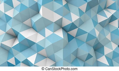 blue polygonal 3D geometric surface seamless loop - blue...
