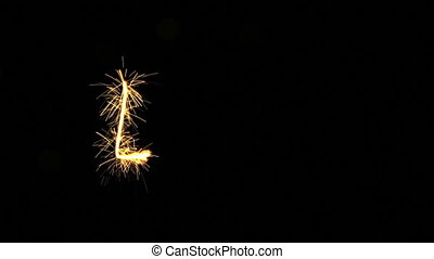 love text sparkler animation last 5s loopable - love text...