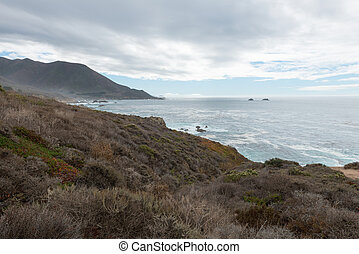 Central California coast - Overcast skies along the central...