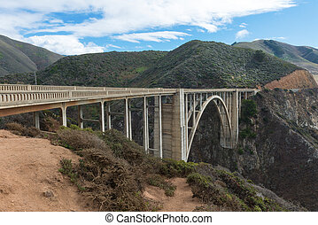 Bixby Bridge on Cabrillo Highway - Bixby Bridge along the...