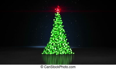 defocused christmas tree bokeh lights loopable animation