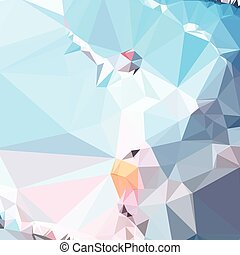 Air Superiority Blue Abstract Low Polygon Background - Low...