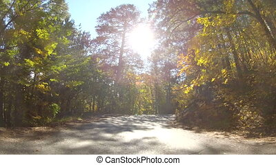winding mountain road, GoPro - scenic route through colorful...